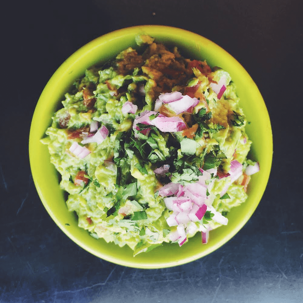 Picture showing a bowl of guacamole